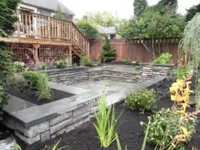 Landscaping ideas for downward sloping backyard the garden intended