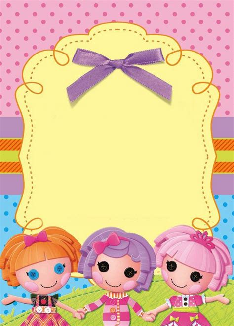 printable lalaloopsy invitations lalaloopsy party invitation free template just fill in