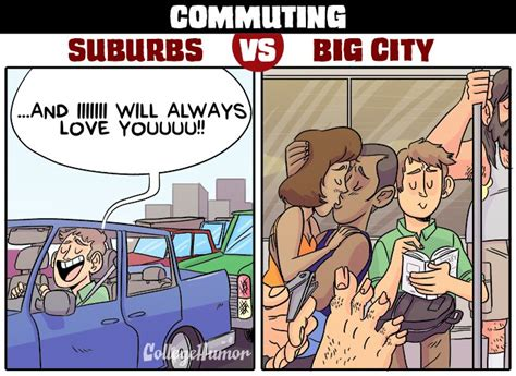 Living City Vs Suburbs Essay by Living In The Suburbs Vs The Big City Collegehumor Post