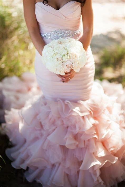 blush and pink wedding pink wedding dresses pinktober knotsvilla