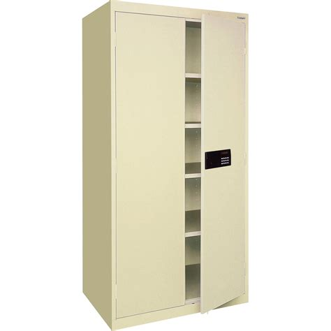 sandusky keyless electronic steel cabinet 46in w x