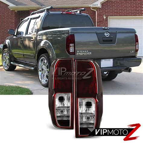 2014 nissan frontier tail lights fits 2005 2014 nissan frontier sc red smoke rear brake