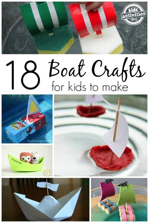 how to make a paper boat that doesn t sink 18 boat crafts for kids to make