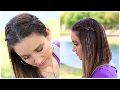 cute hairstyles with braids youtube diy 4 strand waterfall braid cute girls hairstyles youtube