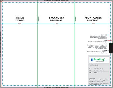 Create And Print A Brochure With Photoshop Indesign And Uprinting Com Part 1 Brochure Template Photoshop