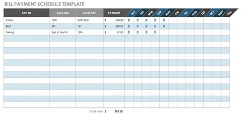Bill Templates by 12 Free Payment Templates Smartsheet