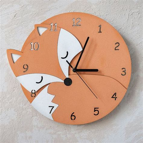 unique wall clock best 25 fox nursery ideas on pinterest