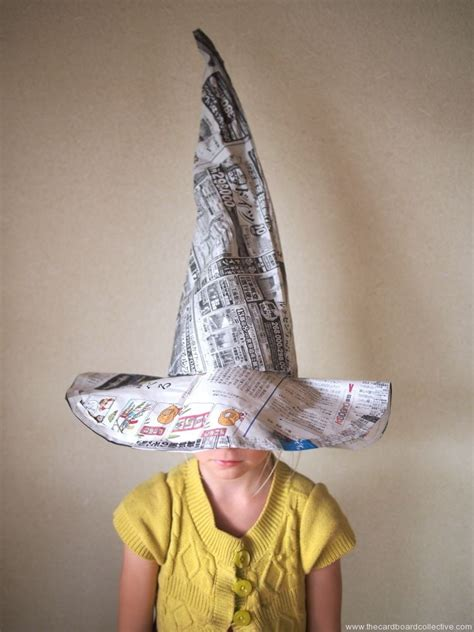 How To Make Paper Hats For Adults - newspaper witch s hat the cardboard collective