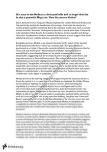 Response Essay Thesis by Unit 3 4 Text Response Essays Medea Year 12 Vce Thinkswap