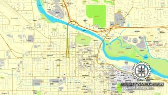 eugene oregon us printable vector city plan map