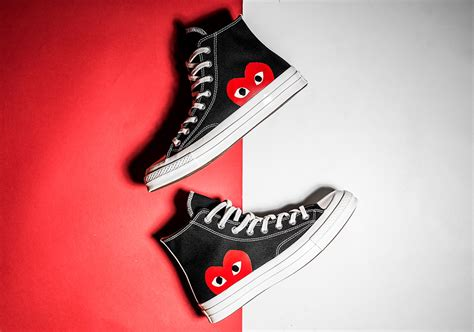 cdg comme des garcons converse chuck release info sneakernews