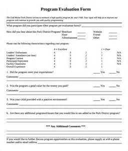 monitoring and evaluation template word program evaluation form 7 free documents in