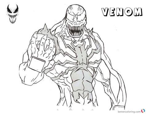 venom coloring pages venom comics coloring pages coloring pages
