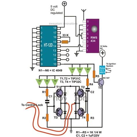 remote car circuit diagram