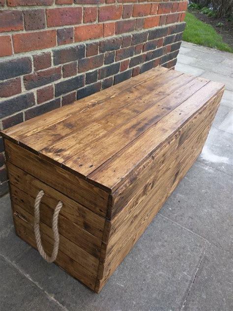long rustic storage bench ana white   diy