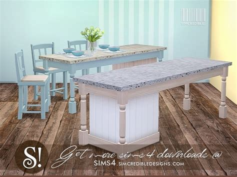 Coastal Kitchen Table Coastal Kitchen Table 3x1 The Sims 4 Simsdom