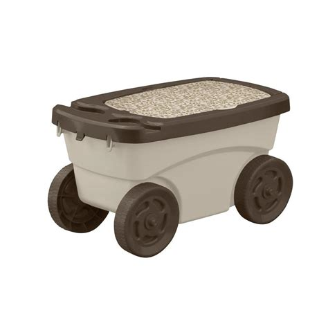 garden seat cart rolling scoot n do garden seat and pull