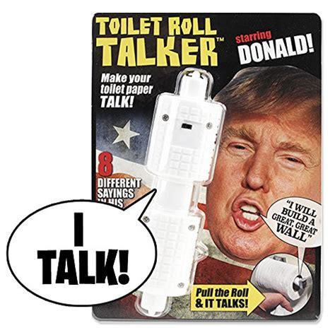 donald trump voice donald trump toilet roll talker talka with trump s real