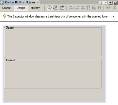 jpanel in java swing exle designing a swing gui in netbeans ide tutorial