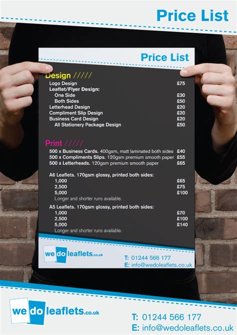 invitation design price list price list design template sle invitations sle 55
