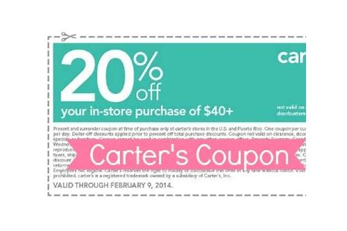 carters coupons in store