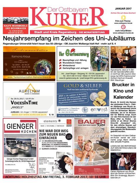 der gartenzwerg lappersdorf sued ostbayern kurier januar 2017 by medienverlag hubert