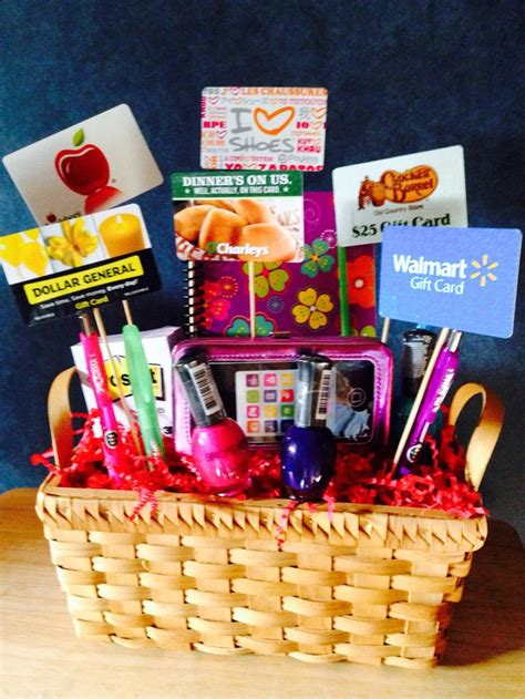 Gift Gift Cards - gift card basket gift giving pinterest