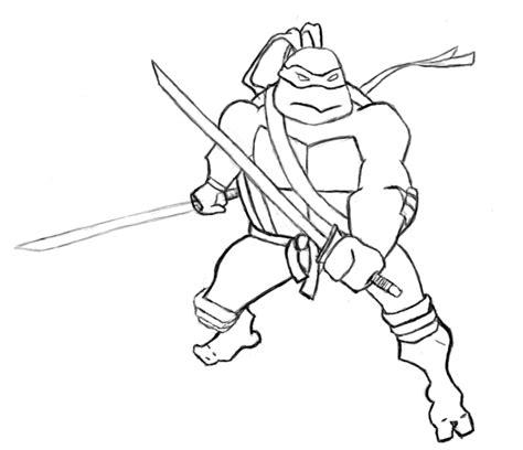 Ninja Outline Coloring Page | tmnt leonardo outline by toestirs on deviantart