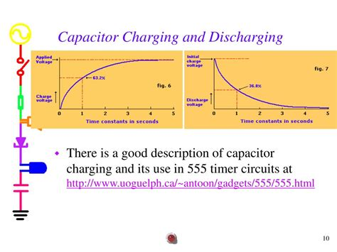 notes on charging and discharging of capacitor ppt experiment 7 555 timer powerpoint presentation id 300783