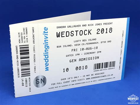 gig ticket template concert ticket invitations wedfest
