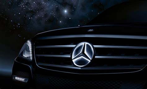 glowing bmw emblem mercedes gets its shine on introduces illuminated