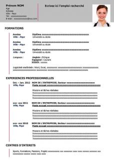 Formulaire De Cv by Resume Format Le Formulaire De Cv