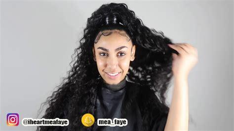 Niaja Braiding Hair Styles | half up half down sew in ft queen naija youtube