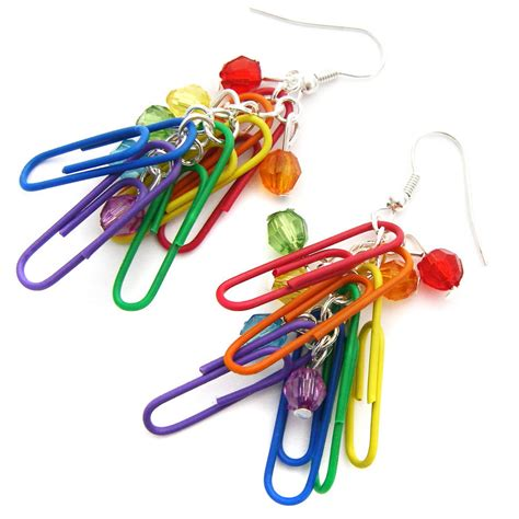 Paperclip Origami - paper clip earrings for