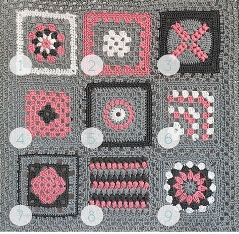 Patchwork Square Patterns - quot crochet meets patchwork quot afghan pink square