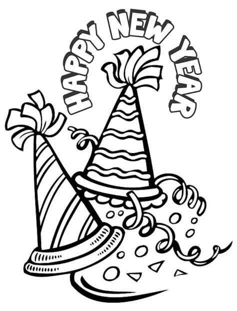 free printable coloring pages new years new years coloring page