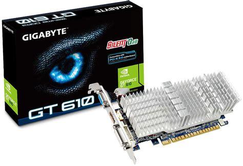 Digital Alliance Geforce Gt 610 1024mb Ddr3 64 Bit nvidia gt610 fanless 1gb gddr3 graphics card gv n610sl 1gi