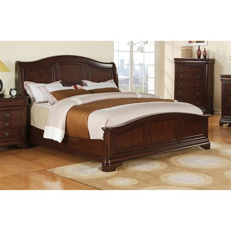 elements international cameron traditional cherry bed
