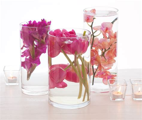 Flower Centerpiece Wedding by Submerged Flower Centerpiece The Chic Site