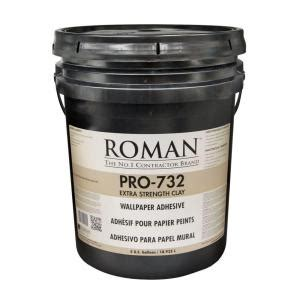 home depot pro extra roman pro 732 5 gal extra strength wallcovering adhesive 010005 the home depot
