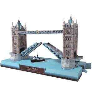 Canon 3d Papercraft - tower bridge europe architecture paper