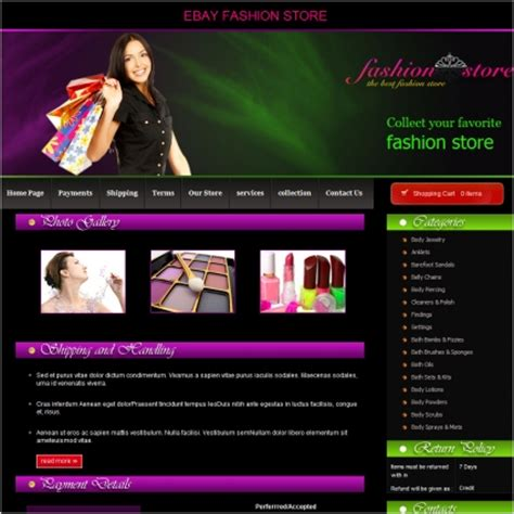 Fashion Store Template fashion store template free website templates in css html