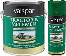valspar tractor and implement enamel paint