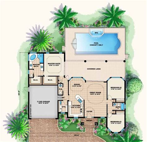 best 25 house plans with pool ideas on one