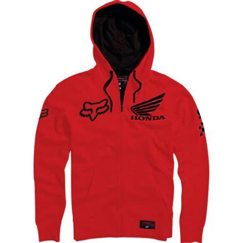 Sweater Hoodie Zipper Mx Pro Racing Sweater Road Race fox racing honda standard zip hoody motosport legacy url