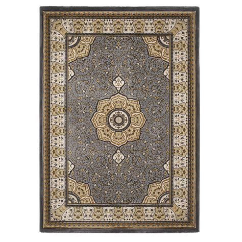 Classic Rug by Hermitage Medallion Classic Rug In Silver Grey