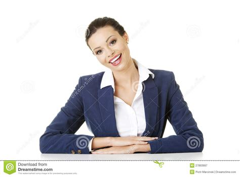 business is sitting at the desk royalty free stock