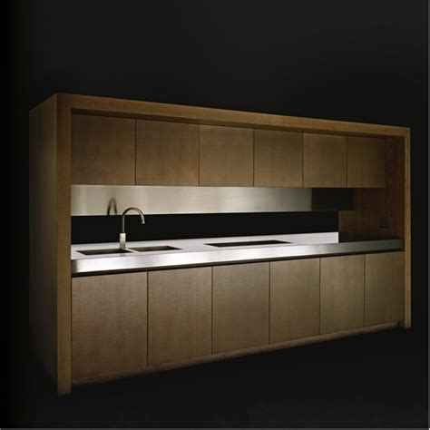 disappearing sleek and polish kitchen design calyx from elegant wooden kitchen bridge by armani dada digsdigs