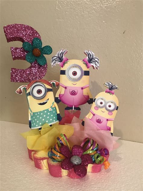 minions centerpieces top 25 ideas about minion centerpieces on