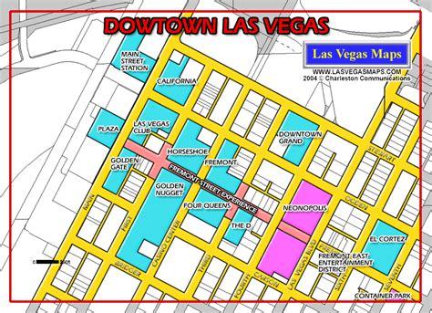 map of downtown las vegas las vegas maps downtown